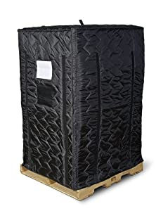 """Insulated Pallet Cover, Black, 72"""" High"""