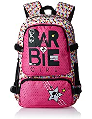 Barbie Nylon 48 Cms Pink And Black Children's Backpack (MBE - MAT105)