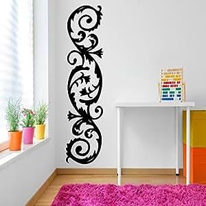 DeStudio Corner Curves Chalkboard Wall Decal, Size XXX Large & Color : BLACK