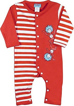 Amazon Dr Seuss Infant Coverall Thing 1 & Thing 2