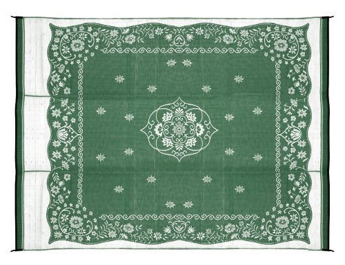 Camco 42850 Reversible Outdoor Mat (9' x 12', Green Oriental) (Camping Outdoor Mat compare prices)