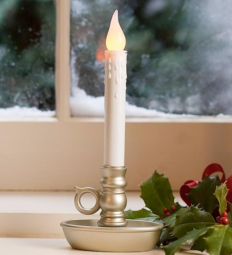 Lily'S Home Battery Operated Single Window Led Candles, With Timer