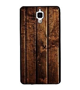 Fuson Premium 2D Back Case Cover Designed wood With Purple Background Degined For Xiaomi Redmi Mi4::Xiaomi Mi 4