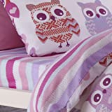 Catherine Lansfield Kids Owl Fitted Sheet, Multi, Double