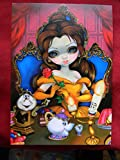 NEW Disney WonderGround Gallery BELLE'S ENCHANTMENT by Jasmine Becket-Griffith Postcard BEAUTY AND THE BEAST PRINCESS BELLE