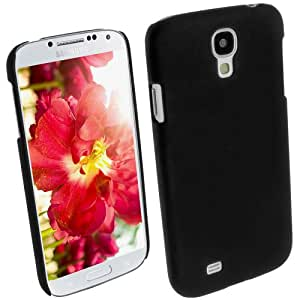 iGadgitz Black Rubberised PC Hard Case Cover for Samsung Galaxy S4 IV I9500 I9505 Android Smartphone Mobile Phone + Screen Protector