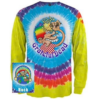 Grateful Dead - Mens Ice Cream Kid Tie Dye Long Sleeve Large Multi
