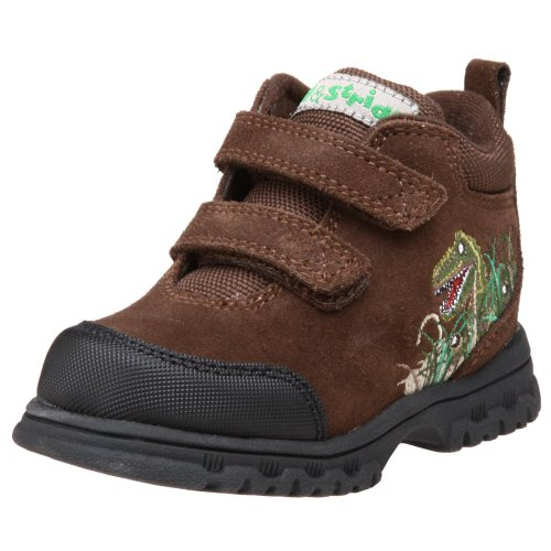 Step & Stride Toddler/Little Kid Dino EZ Hiking Boot,Brown Green,6 M US Toddler