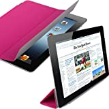 Shop4 Premium Hot Pink Folding Smart Stand Case Cover for the New Apple iPad 3 HD