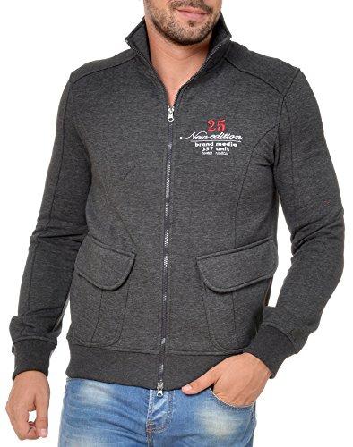 M.Conte Uomo Polo Shirt Felpa manica lunga Ouray Anthracite XL
