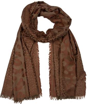 Sakkas 200SYS Wild Animal Print Pashmina Scarf / Stole / Wrap / Shawl - Brown