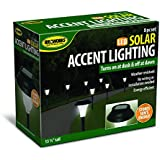 Ideaworks JB5629 Solar-Powered LED Accent Light, Set of 8