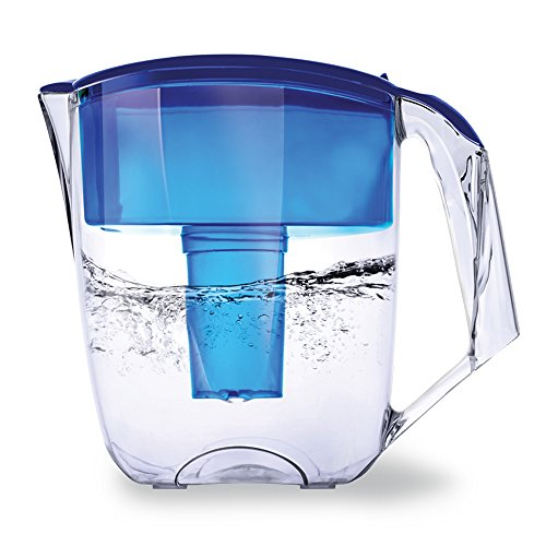 Premium Water Pitcher Filter by Ecosoft - 8 Cup - Efficient BPA-free Purification System, Portable and Sleek Kitchen Filtration Jug, Advanced and Reusable Distiller Promotes Healthy Drinking, Blue (Water Filter Pitcher Fluoride compare prices)