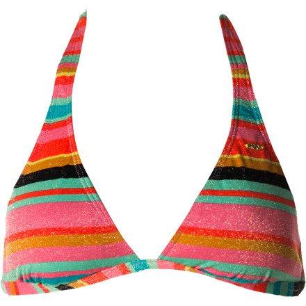 Roxy Wave Frenzy Halter Bikini Top
