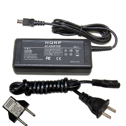 HQRP AC Adapter for OLYMPUS AC-1 PS-AC1 fits E-1 E-3 E-5 E-30 E-300 Digital Camera Power Supply Cord Charger + Euro Plug Adapter