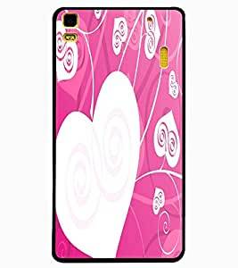ColourCraft Love Hearts Design Back Case Cover for LENOVO A7000