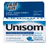 Unisom SleepGels, 32 Softgels per Box (Pack of 2)