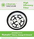 Replacement Filter Fits Numatic Henry, George & Edward, Designed & Engineered by Crucial Vacuum