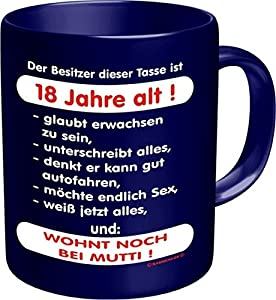 fun tasse mit spruch zum 18 geburtstag. Black Bedroom Furniture Sets. Home Design Ideas