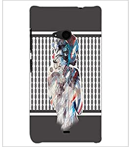PrintDhaba Mysterious Girl D-2710 Back Case Cover for MICROSOFT LUMIA 535 (Multi-Coloured)