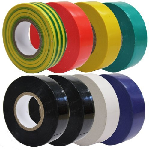 all-trade-direct-8-x-mixed-colour-electrical-insulation-tape-20m-professional-british-standard