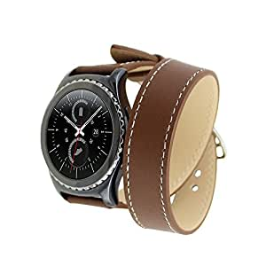 Gear S2 Band, SENTER Samsung Classic Smartwatch Replacement Band for Samsung Gear S2 , Only for classic model ,(Brown)