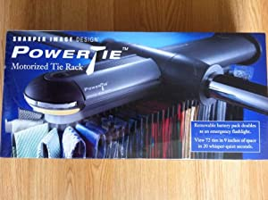 Sharper image powertie motorized tie rack for Motorized tie racks for closets