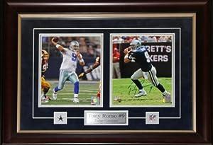 Tony Romo Dallas Cowboys Signed 2 Photo Frame by Midway Memorabilia