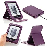 "MoKo Vertical Flip Cover Case for Amazon New Kindle Paperwhite (Fits All versions: 2012 and 2013-212 PPI, Latest Edition 2015 300 PPI 3rd gen with 6"" high definition display and Built-in Light), PURPLE (with Auto Sleep/Wake Function)"