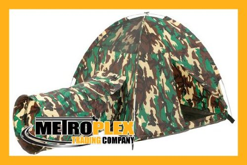 Pacific Play Tents Command Hq Tent & Tunnel Combo - New front-974186