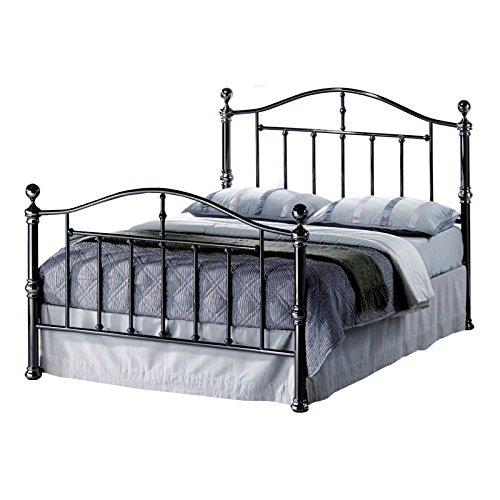 Birlea-Victoria-Bettgestell-aus-Metall-schwarz-nickel-4-ft-6-in-Doppelbett-Rahmen