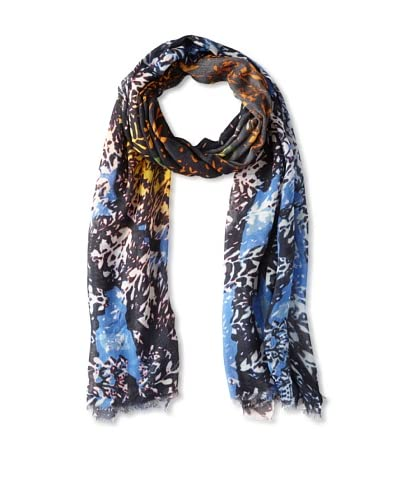 Movement by Juma Women's Vine Floral Scarf, Blue/Orange As You See
