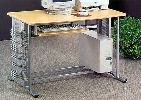 Buy Low Price Comfortable Brushed Aluminum Finish Computer Desk (B0001JT2JU)