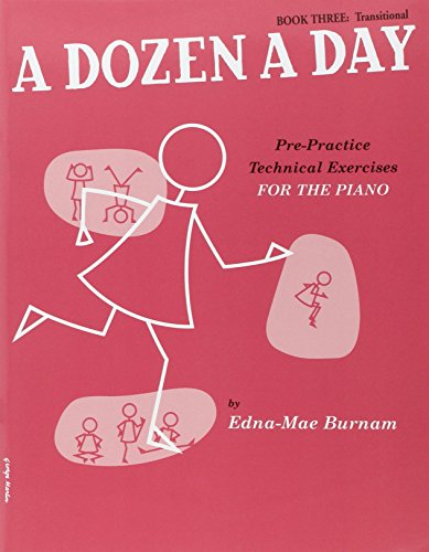 A Dozen a Day Book 3 (Transitionnel - en Anglais - Rose Fonce): For Piano Bk.3