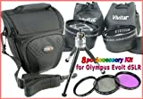 8pc Accessory Kit for Olympus Evolt 410, 420, 500, 510, 520 +BONUS