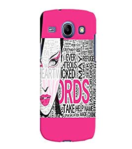 Fuson Fashion Girl Back Case Cover for SAMSUNG GALAXY CORE I8260 - D4066