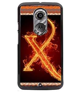 Fuson 2D Printed Alphabet X Designer back case cover for Motorola Moto X2 - D4214