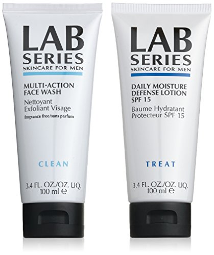 Aramis Set Lozione Lab Series Multi Action Pulizia Faciale - 100 ml, Daily Moisture Defence Lotion SPF 15 - 100 ml