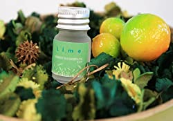 Lime Pot Pourri Refill Gift Set & Fragrance Lime Oils (7cmx7cmx5cm)