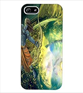 ColourCraft Lord Rama Design Back Case Cover for APPLE IPHONE 5S