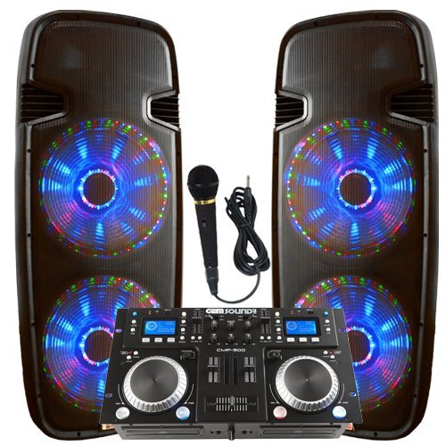 Light up the house! - Dj System - Lighted Powered Dual 15