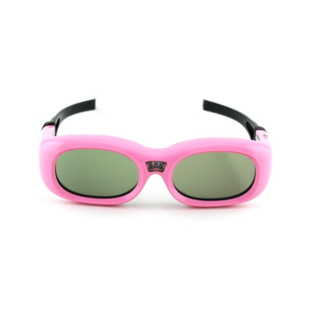 Compatible Mitsubishi Kids Pink G9 DLP-Link 3D Glasses by Quantum 3D optoma zd101 compatible 3d glasses dlp link by quantum 3d