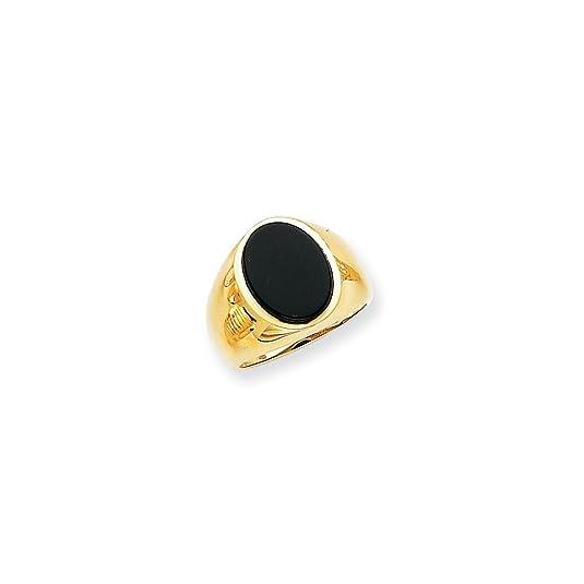 14k Men's Onyx Ring