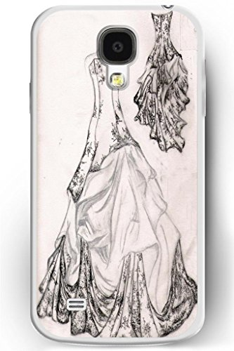 Sprawl Love Melody Elegant Design Galaxy S4 Iv Hard Plastic Cover Case For Women -- Black White Wedding Dress