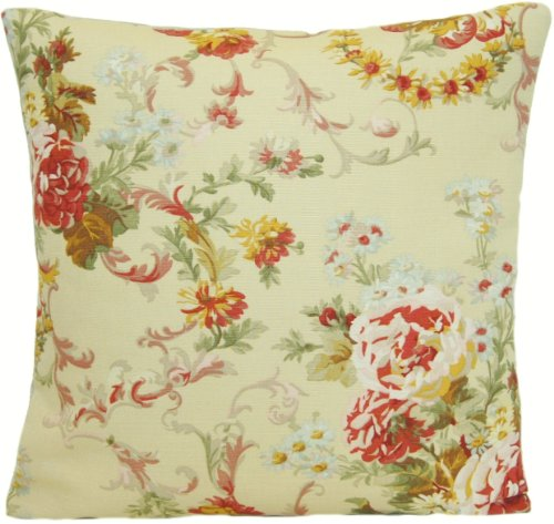 Cushion Pillow Cover Ralph Lauren Fabric Vintage Look Beige Briarcliff