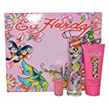 Ed Hardy Gift Set (EDP Spray Shimmering Body Lotion and EDP Spray for Women)