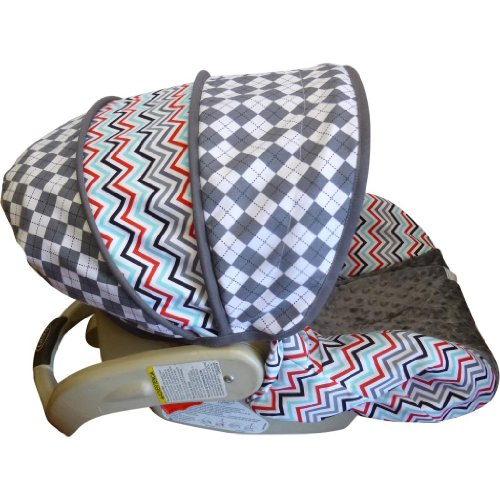 Celebration Chevron Argyle Infant Car Seat Cover