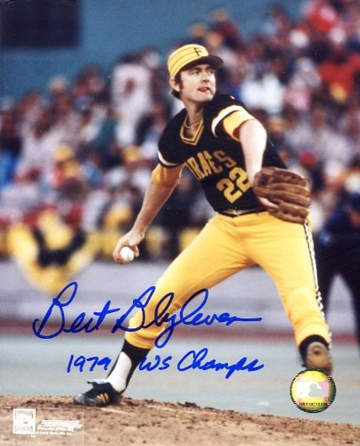 bert-blyleven-hofer-autographed-original-signed-8x10-action-photo-showing-him-with-the-1979-world-ch