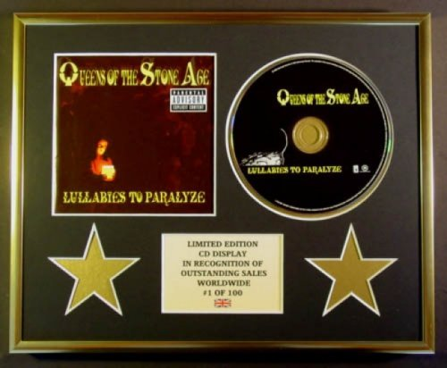 QUEENS OF THE STONE AGE/CD Display/Limitata Edizione/Certificato di autenticità/LULLABIES TO PARALYZE