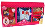 4 Item Bundle: Disney Snow White Princess Costume Set w/ Dress, Shoes, Crown, Purse Size 3-5 Years